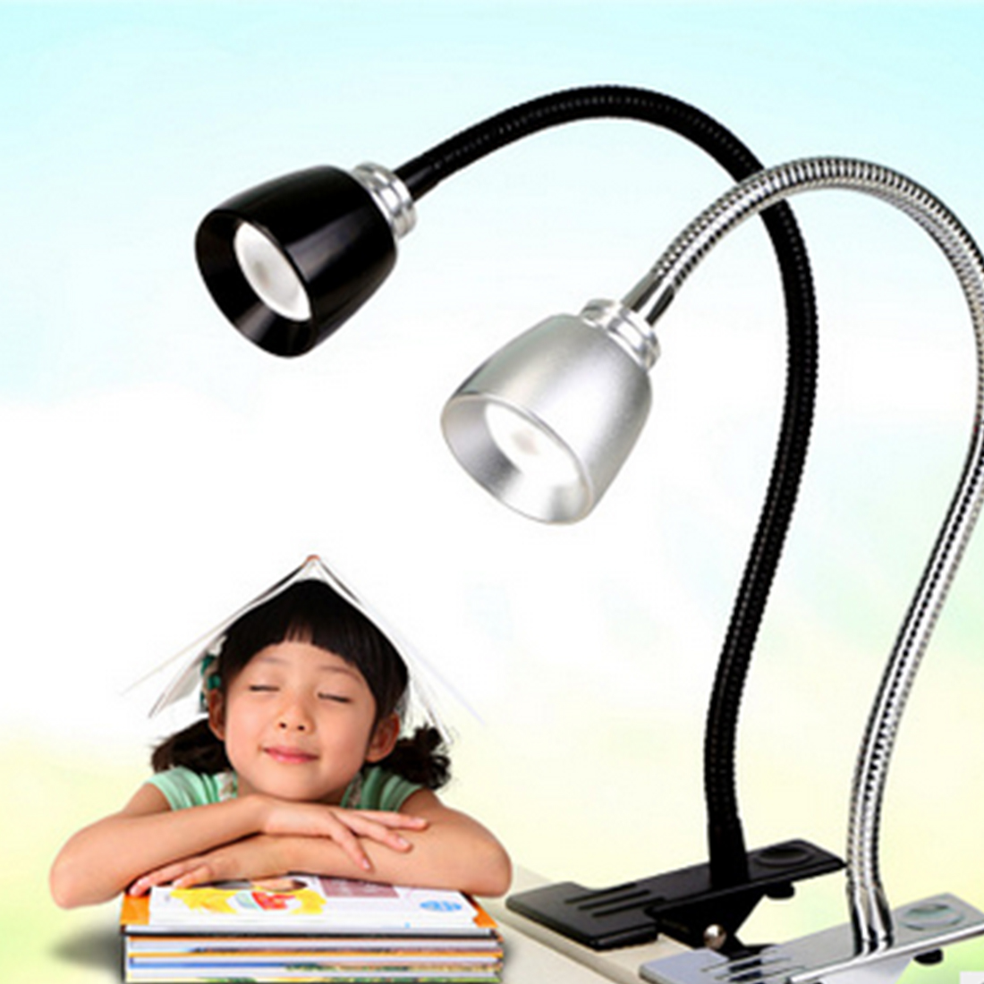 Clip Holder USB Power LED Desk Lamp Flexible Table Lamp Bedside Lamp Book Light For Bedroom Living Room Home Decoration