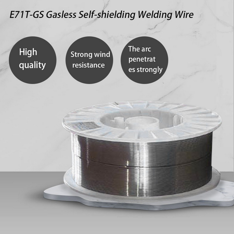1 Roll Carbon Steel Welding Wire 0.8mm/1.0mm 1kg E71T-GS Self-protecting Solid-Cored MIG Welder Tool for Chemical Equipment