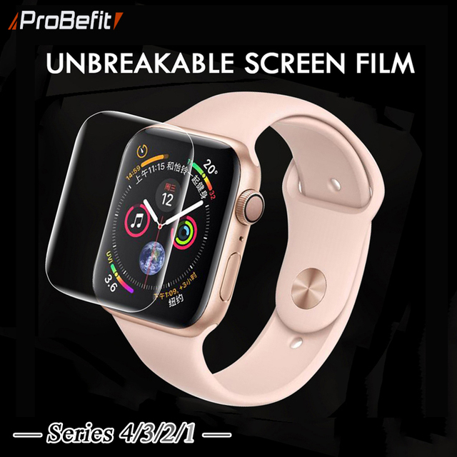 Protector de pantalla transparente película protectora de cobertura completa para iWatch 4 40 MM 44 MM vidrio no templado para Apple Watch 3 2 1 38 MM 42 MM