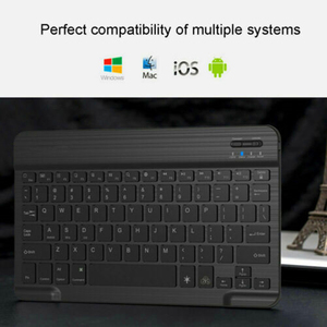 Image 5 - Mini Bluetooth Klavye MT07 Ince Taşınabilir Mini Kablosuz Klavye IOS Android Windows PC Bluetooth Klavye Arkadan Aydınlatmalı