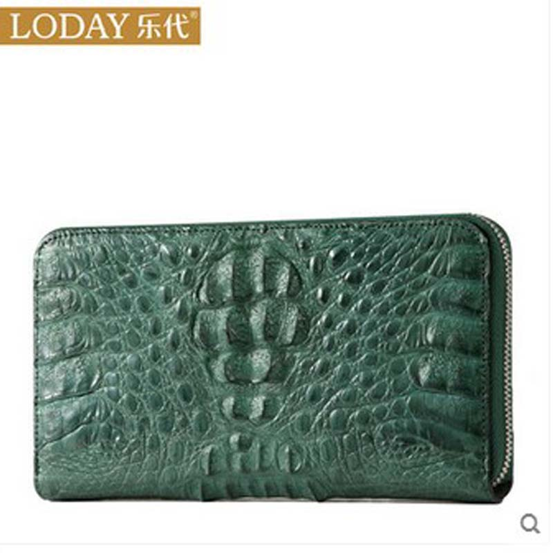 ledai wallet female long style thin personality ultra-thin American Japanese students simple women clutch bag crocodile skin ba