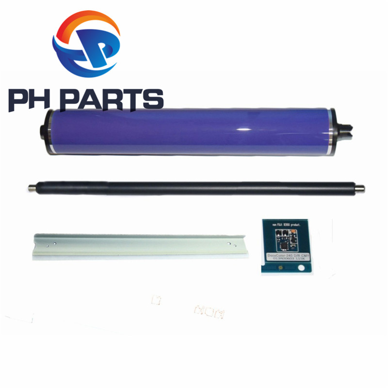 1setX PCR Charge Roller+013R00663 Drum Chip+ Cleaning Blade+ OPC Drum for <font><b>Xerox</b></font> Color 550 550 560 570 C60 C70 <font><b>C550</b></font> image