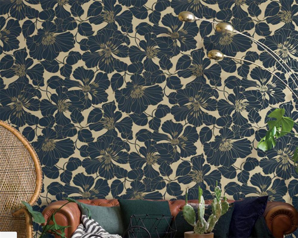 Online Get Cheap Blau Schwarz Tapete -aliexpress.com | Alibaba Group Wohnzimmer Schwarz Blau