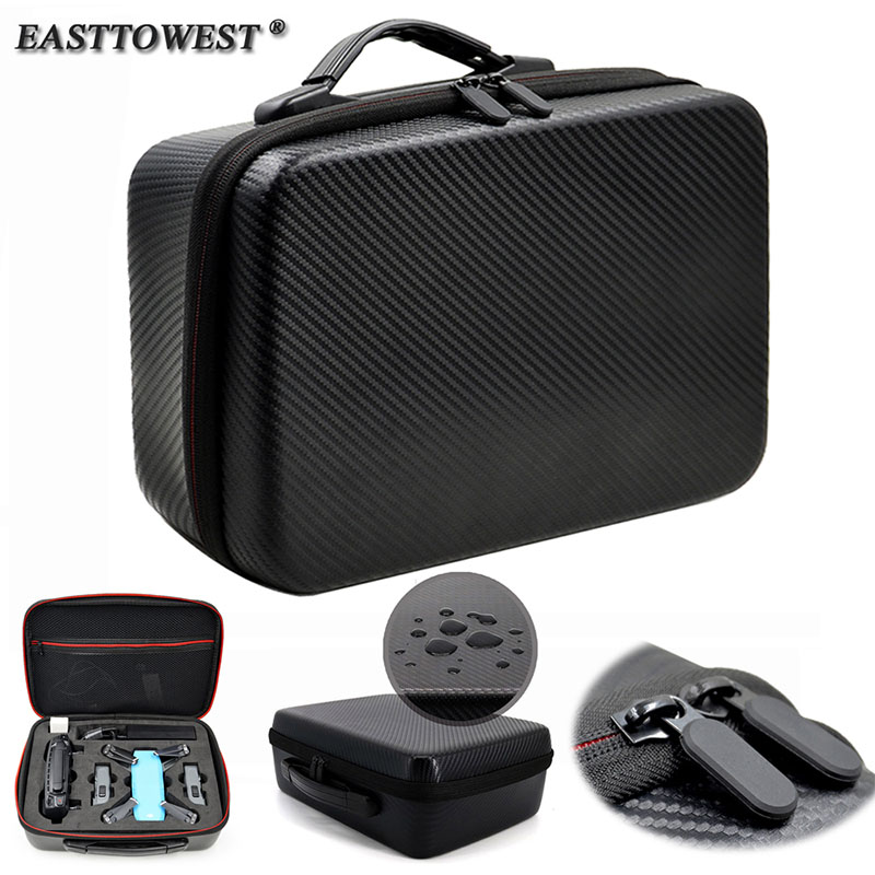 Easttowest Waterproof Hard Case EVA PU Drone Box Portable Storage Carry Bag for DJI Spark hard storage case for dji goggles immersive fpv drone accessories waterproof dji goggles bag hard storage travel case