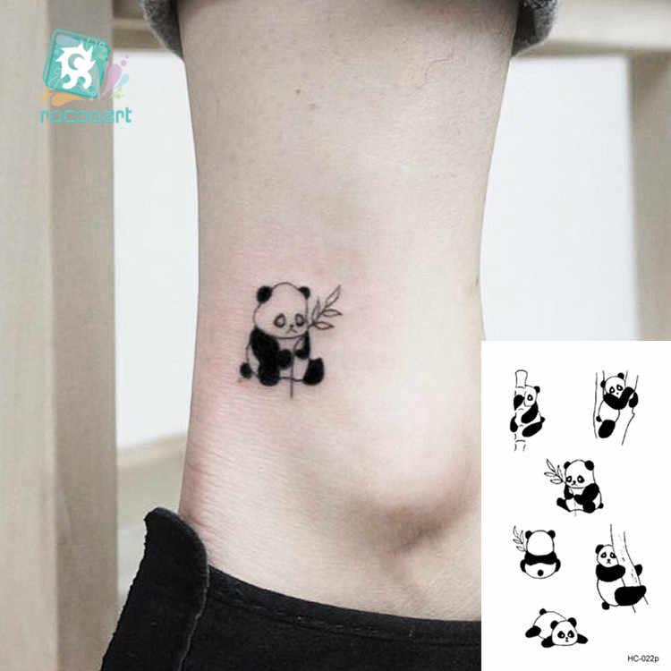 Tattoo adesiva temporária flamingo gato, arte corporal feminina, nova tatuagem falsa temporária fofa e pequena