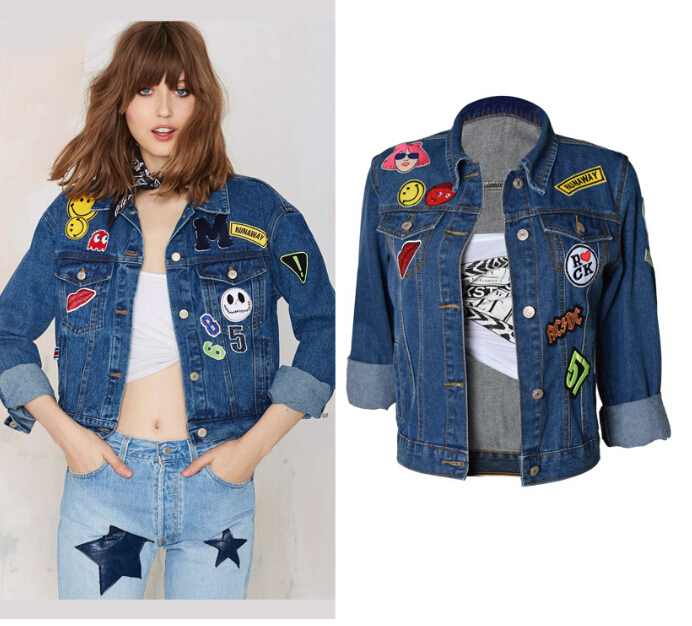 High Street 2016 New Women Denim Coat Tops Ladies Spring Ripped ...