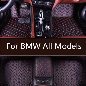 Custom Car Leather Floor Mats for BMW All Models f10 f01 f25 f30 f45 x1 x3 f25 x5 f15 e30 e34 e60 e65 Waterproof Wire Floor Mat image
