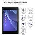 Protector de pantalla de cine 0.26mm premium vidrio templado guardia de protección para sony xperia z4 tablet con la caja al por menor