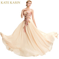Elegant Grace Karin Strapless Peacock Applique Sleeveless Lace Up Back Formal Evening Dress 2015 New Long
