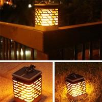 Solar Led Lamp Flickerling Flame Light Outdoor Waterproof Landscape Decoratrion Candle Dancing Lighting For Lawn Garden Lantern