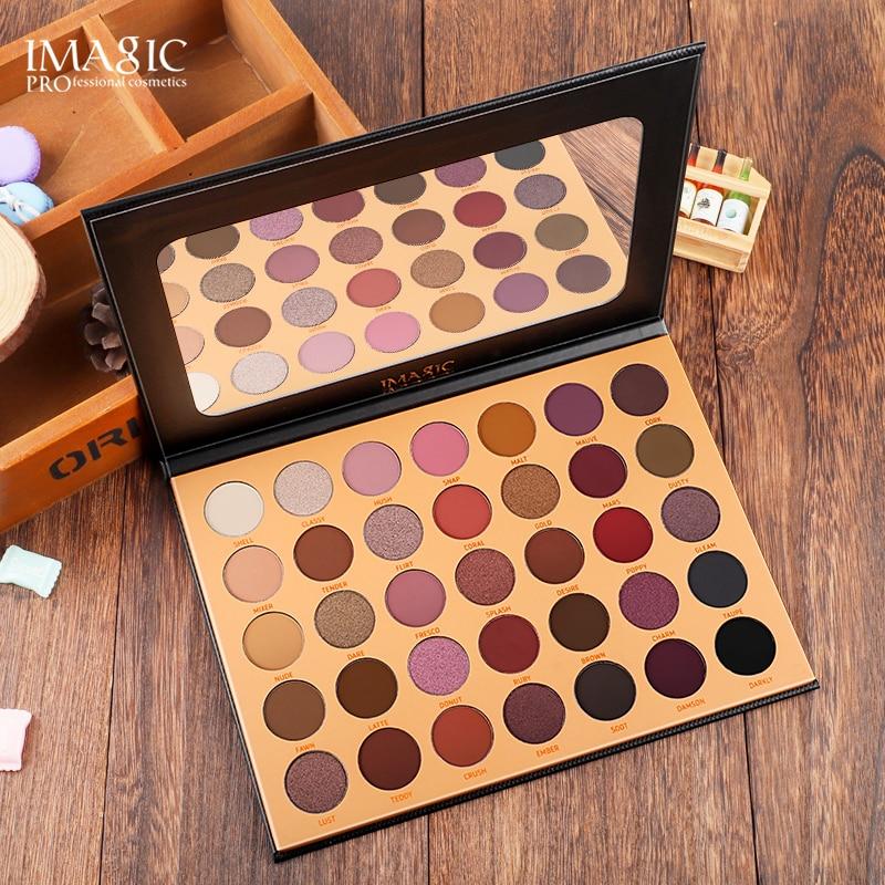IMAGIC 35 Cores Nude focallur Pigmento da Sombra de Olho Maquiagem À Prova D' Água Cor Nude Sombra de Olho Maquiagem Profissional Brilho Ouro Dis