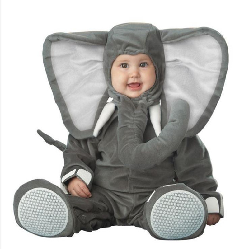 Cute Soft Donkey Child Costume Jumpsuit Nativity Desert Animal Boys Girls Gray