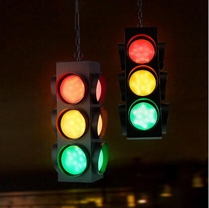 Traffic Light Loft Style Vintage Pendant Lights Creative Droplight Fixtures For Home Lighting Bar Cafe Dinning Room Hanging Lamp retro loft style industrial vintage pendant lights hanging lamps edison pendant lamp for dinning room bar cafe