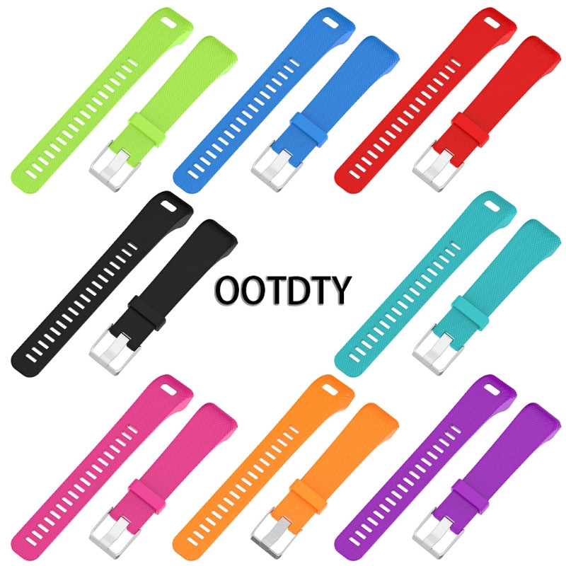 OOTDTY Smart Watch Strap Silicone Replacement Wrist Band Strap For Garmin Vivosmart HR+ Sports GPS Watch