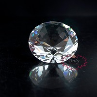 Free Shipping Fengshui Style 2 Inch 50mm Nature Clear Quartz Crystal Diamond Stone Paperweight Wedding Decoration
