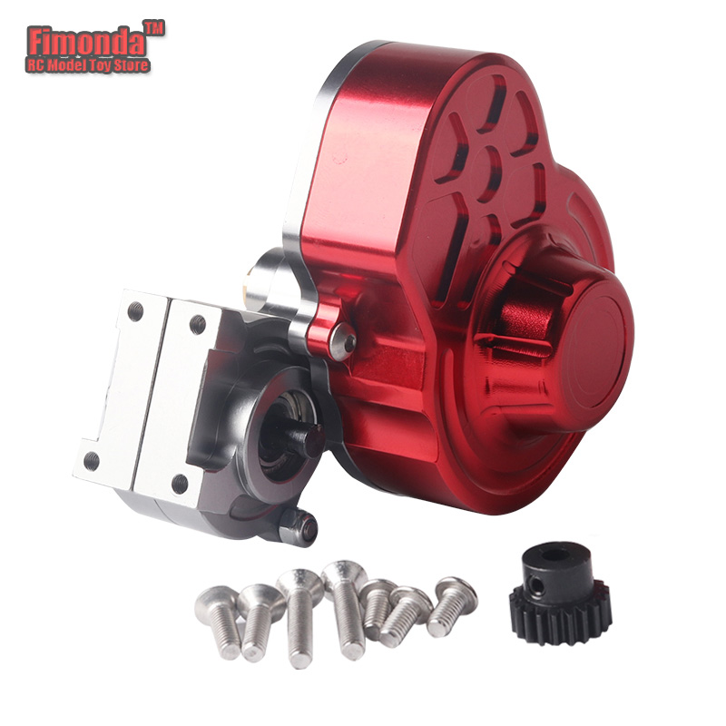 Fimonda for 1/10 RC Car Axial SCX10 Transmission Box Full Metal Transmission Gearbox / Center Crawler Gear Box Reverse Parts 1pc black 1 10 rc crawler scx10 metal aluminum transmission center gearbox for 1 10 axial scx10 gear box