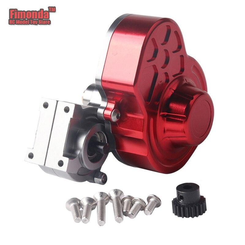 Fimonda para 1/10 RC Car Axial SCX10 caja de transmisión Full Metal caja de transmisión/Centro Crawler caja de engranajes inversa piezas