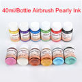 Golden Phoenix Pearly Tattoo Ink For Temporary Airbrush Tattoo/Body Makeup 12Pcs Colorful Airbrush Tattoo Ink Free Shipping