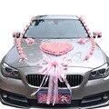 Свадебный набор украшений для автомобиля  набор цветов  искусственный шелк  PE  цветок розы  ленты  банты  романтические  сделай сам  товары дл...
