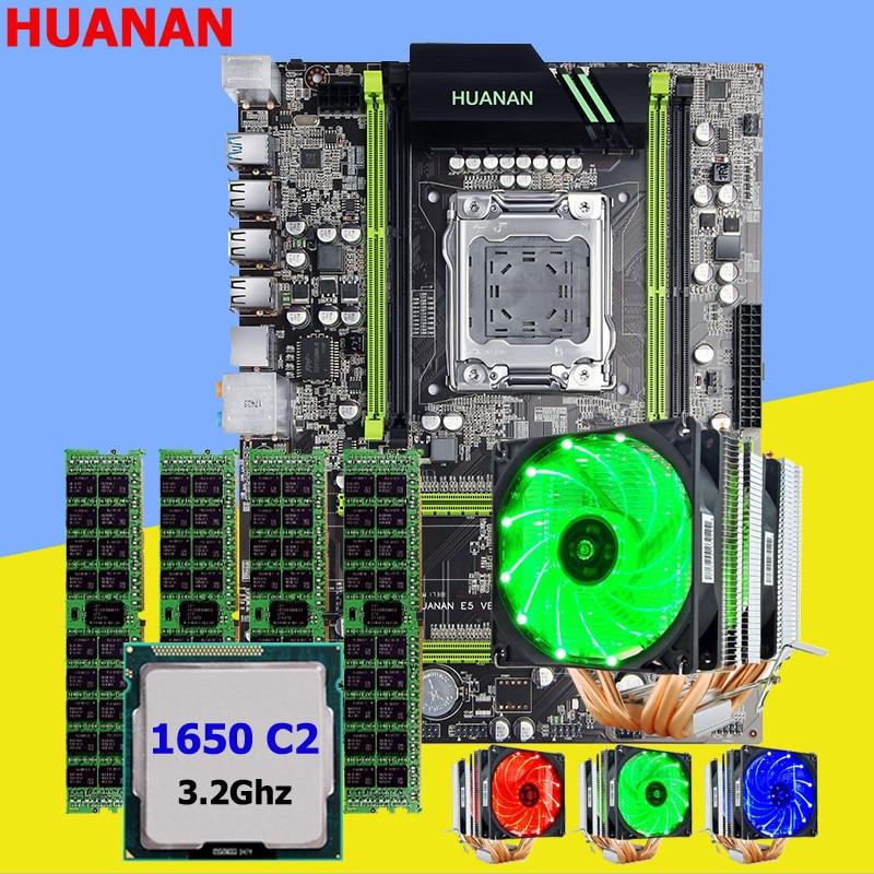 Делая Идеальный компьютер huanan X79 материнской Процессор Xeon E5 1650 C2 3.2 ГГц с 6 тепловыми охладитель памяти 16 г (4*4 г) DDR3 recc