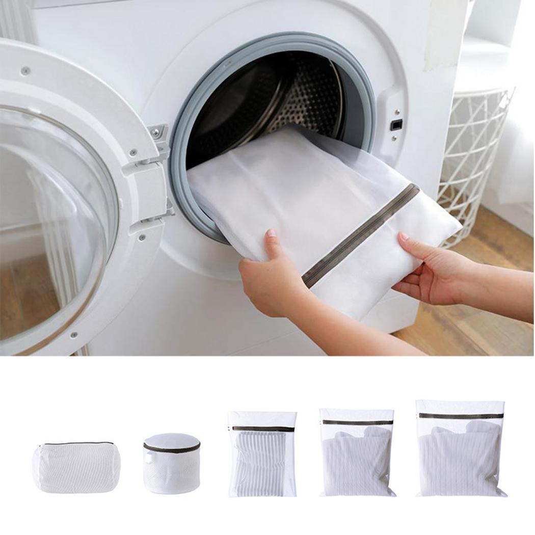 Clothes Laundry Bag Underwear Washing Protective Foldable Home Square, Cylindrical Zipper Organizer Bags