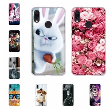 For Xiaomi Redmi Note 7 Case Soft TPU Silicone Cover Natural Scenery Patterned Note7 Shell Bag