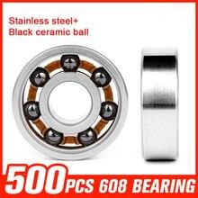 500pcs Bearings 608 Stainless Steel Bearing Ceramic Ball for Fidget Spinner Speed Inline Roller Skating Hand