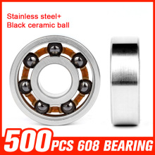 500pcs Bearings 608 Stainless Steel Bearing Ceramic Ball for Fidget Spinner Speed Inline Roller Skating Hand Tool Accessories
