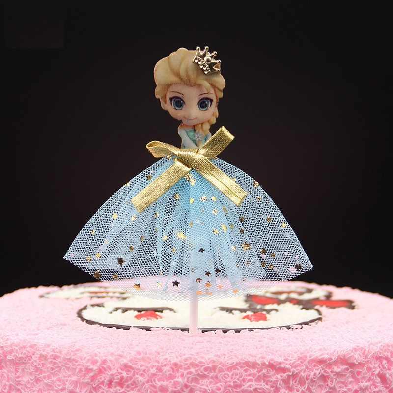 Decoração do bolo Vestido de Princesa Bolo de Aniversário Topper Cupcake Decoração Do Chuveiro Do Bebê Crianças Festa de Aniversário Do Favor Do Casamento para a Menina