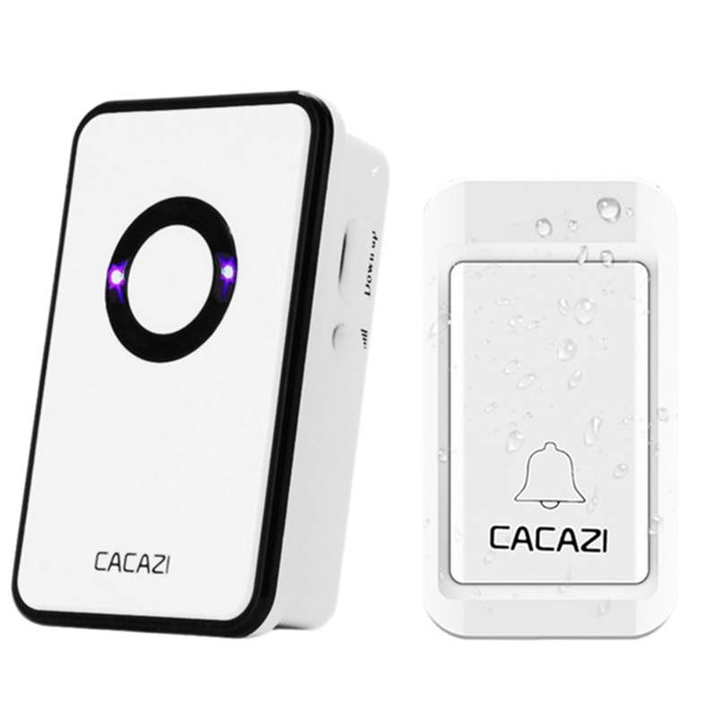 38 Tunes Wireless Cordless Waterproof Doorbell Remote Control Door Bell Chime No Need Battery for Smart Home Electronics
