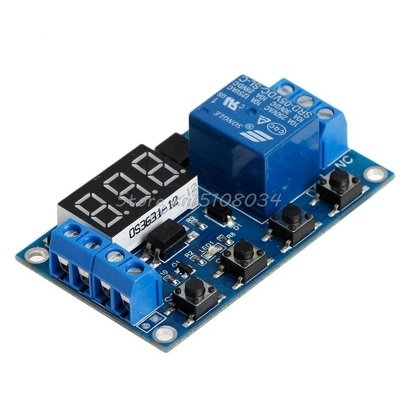 6-30V Relay Module Switch Trigger Time Delay Circuit Timer Cycle Adjustable S08 Drop ship zys48 s dh48s s ac 220v repeat cycle dpdt time delay relay timer counter with socket base 220vac