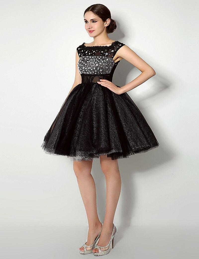 Großartig Schwarzes Kleid Für Cocktailparty Bilder - Brautkleider ...