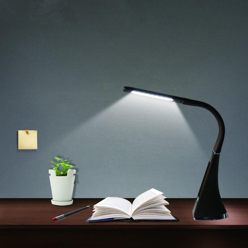 Litake LED Desk Lamp Electronic VA Screen 3 Level Dimmable Eye Care Reading Light With Calendar Temperature Alarm Clock