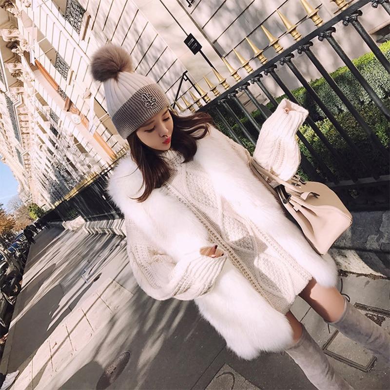 Tempérament Mode Imitation Version Longue Femelle D'hiver Faux Et De Casual Nouvelle D'automne 2018 Renard Coréenne Veste Fourrure Gilet wxqOzZZ