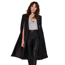 Autumn New Vintage Style Trench Shawl cloak sleeves Women's Long Fashion casual irregular Female Trenches