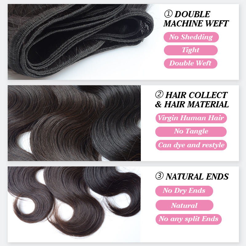 Jvh Peruvian Body Wave Human Hair Weave Bundles Remy Hair Extensions