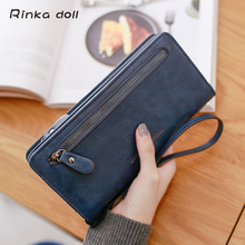 Rinka doll Mother's Day Gift Women Wallets Luxury Brand Wallets Designer Purse Pu Note Compartment Carteira Portefeuille Femme