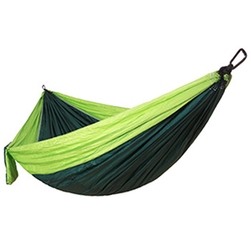 Single Double Hammock Adult Outdoor Backpack Travel Survival Hunting Bed Portable 2 With 2 Carabiner