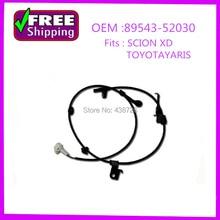 high quality wheel speed sensor  ABS Sensor 89543-52030 8954352030 for  for Toyota Yaris Vitz Ractis IST Belta