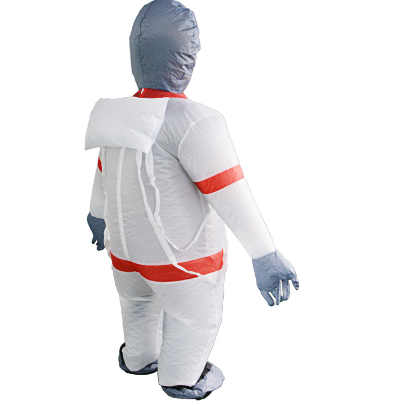 Inflatable Spaceman Costume Anime Cosmonaut Cosplay Halloween Costume for Men Astronaut Clothing