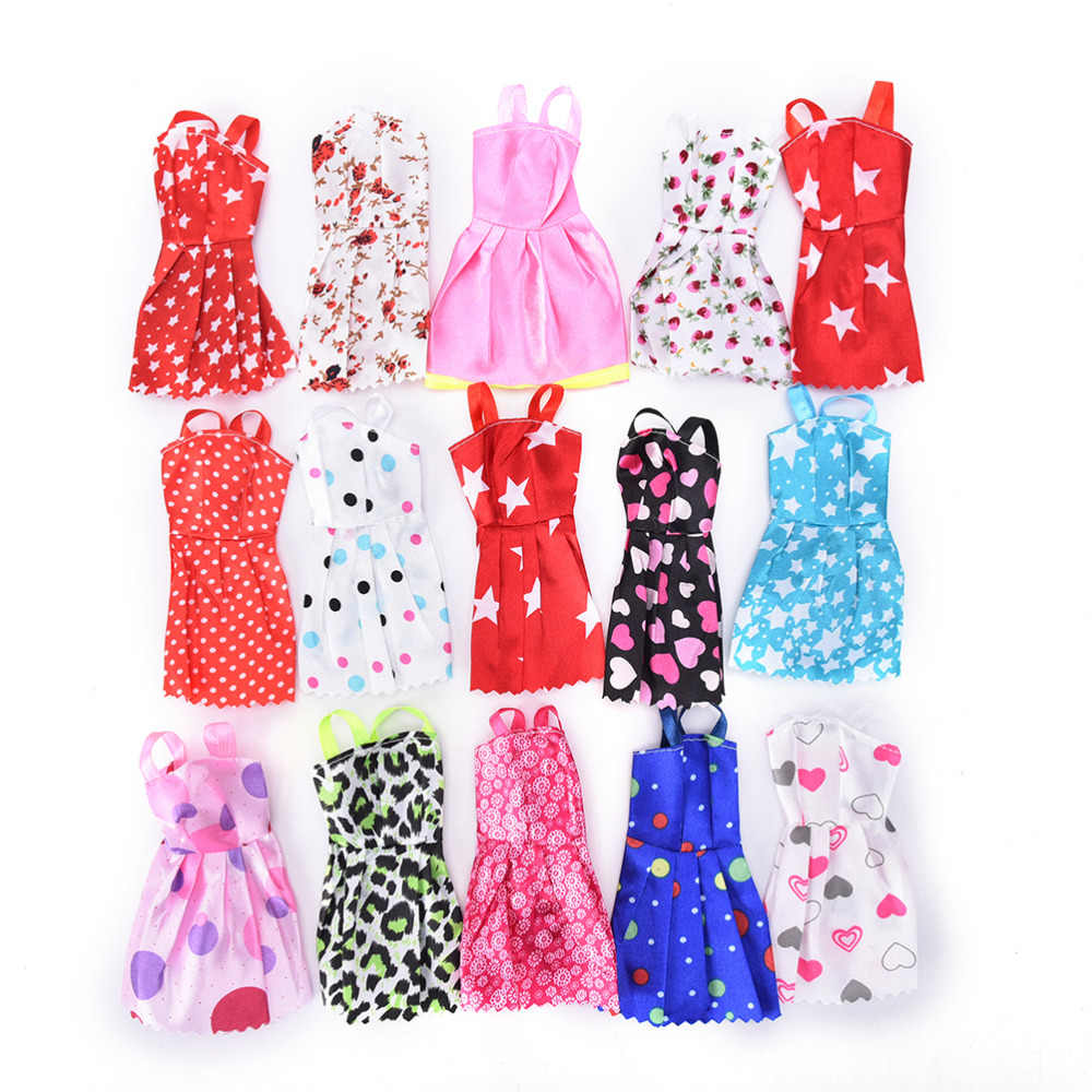 10PCS/set Mixed Style Handmade Doll Dress for   Fashion Summer Party Priness Dress for   Dolls Clothing