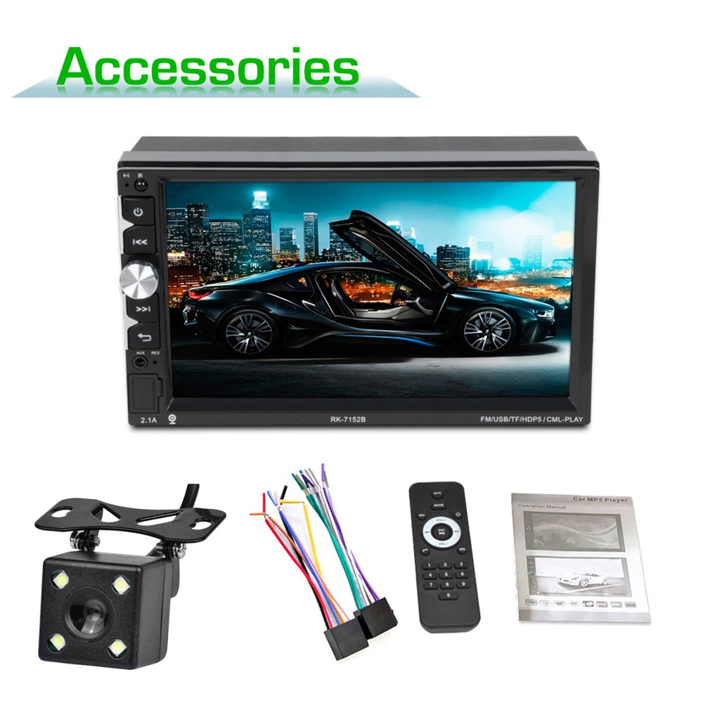 hot 7152 Full HD 1080P Bluetooth Free Hand Call Car MP5 Player 7 Inch Touch Screen Display with Camera Seven Color Backlighthot 7152 Full HD 1080P Bluetooth Free Hand Call Car MP5 Player 7 Inch Touch Screen Display with Camera Seven Color Backlight