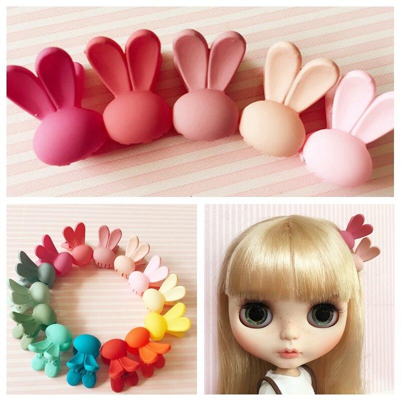 5 шт./лот заколки для волос из кролика карамельного цвета для кукол Blyth Azone 1/6 Bjd аксессуары для кукол