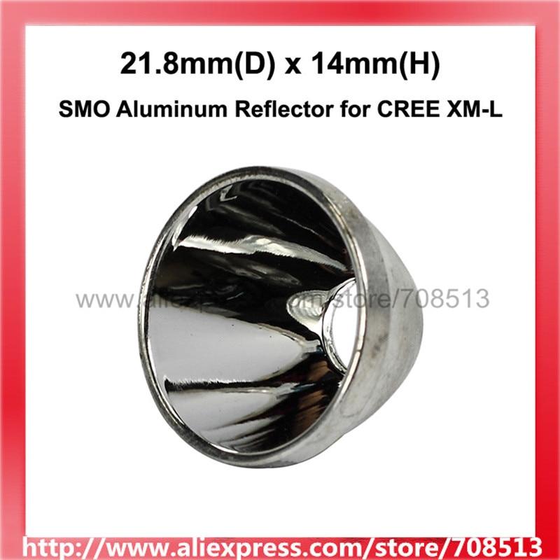 21.8mm(D) X 14mm(H) SMO Aluminum Reflector For CREE XM-L