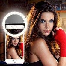 Litwod Z20 teléfono móvil portátil con Clip Selfie anillo belleza Flash de relleno lente lámpara de luz para cámara de fotos para teléfono celular smartphone