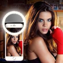 Litwod Z20 мобильный телефон, портативное кольцо для селфи с клипсой, светильник для фотосъемки, лампа для мобильного телефона, смартфон