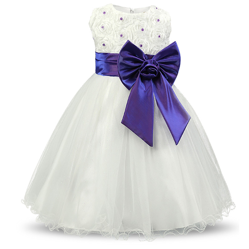 White Baby Girl Dress Wedding Gown Tutu Events Party Dresses For Girls Teenagers Kids Costume Children Girls Ceremonies Vestidos 2017 new girls dresses for party and wedding baby girl princess dress costume vestido children clothing black white 2t 3t 4t 5t