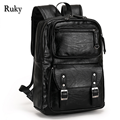 Casual High Capacity Quality Men Business Backpacks 2016 Fashion High Grade Leather Designer Men's Schoolbag Travel Laptop Bag