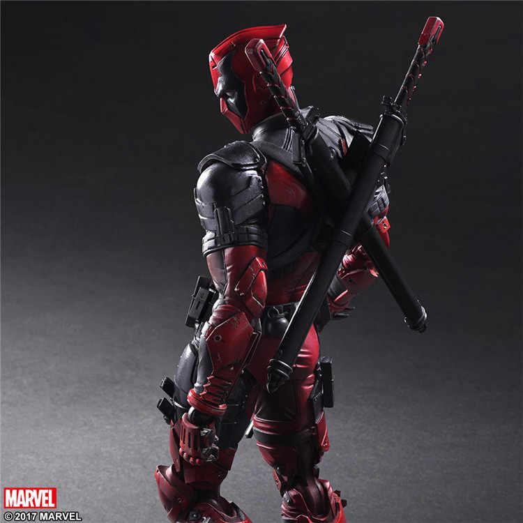 Anime Figura de Ação Filme Deadpool X-men X-MEN Wade Winston Wilson Playarts Kai kai Brinquedo PVC pa 26 cm Deadpool modelo estatueta Boneca