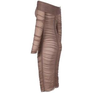 Image 4 - Hươu Phụ Nữ Mùa Hè Bandage Dress Rayon 2019 Người Nổi Tiếng Đảng Dresses Thanh Lịch Váy Quây Băng Bodycon Sexy Tua Váy
